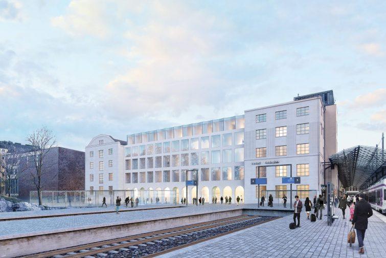 Päärautatieaseman jättihotellin vaativat julkisivuelementit  Parmalta