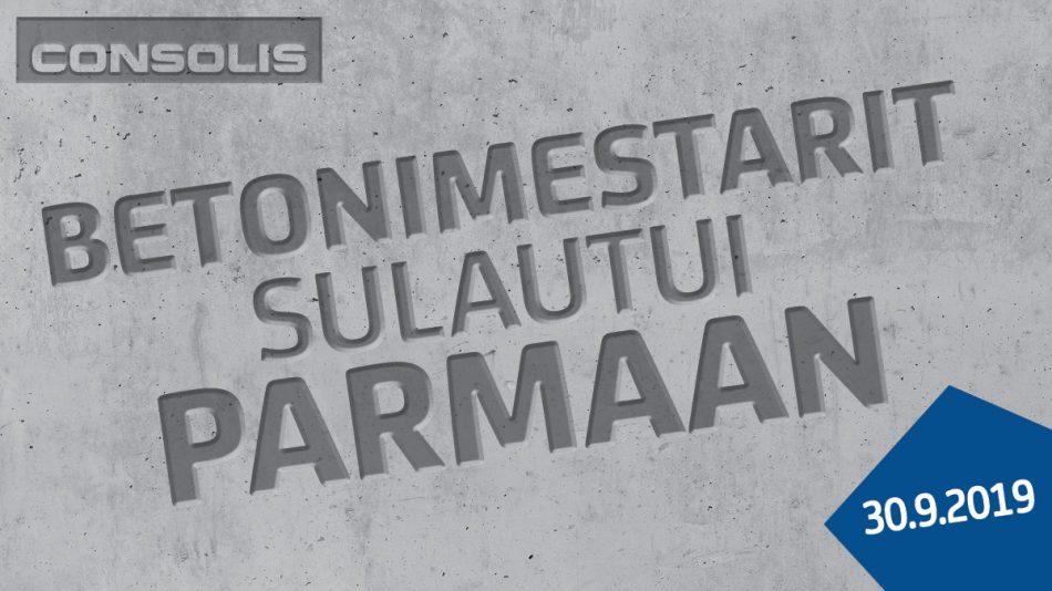 PARMAinfo 10/2019: Betonimestarit sulautui Parmaan ja uusi organisaatio aloitti toimintansa
