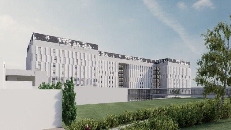KYS Uusi sydän -sairaalahankkeen toisen vaiheen betonielementit Consolis Parmalta