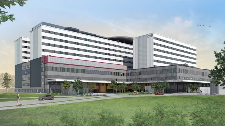 Oulun yliopistolliseen sairaalaan Consolis Rajavillen betonielementit