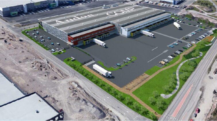 K3 Logistics North logistiikkarakennuksen elementit Consolis Parmalta