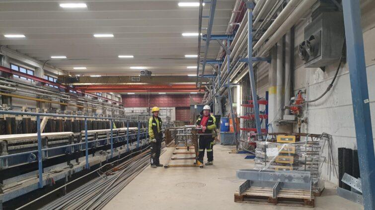 LED-valaistukseen siirtyminen on ympäristöteko Nummelan tehtaalla
